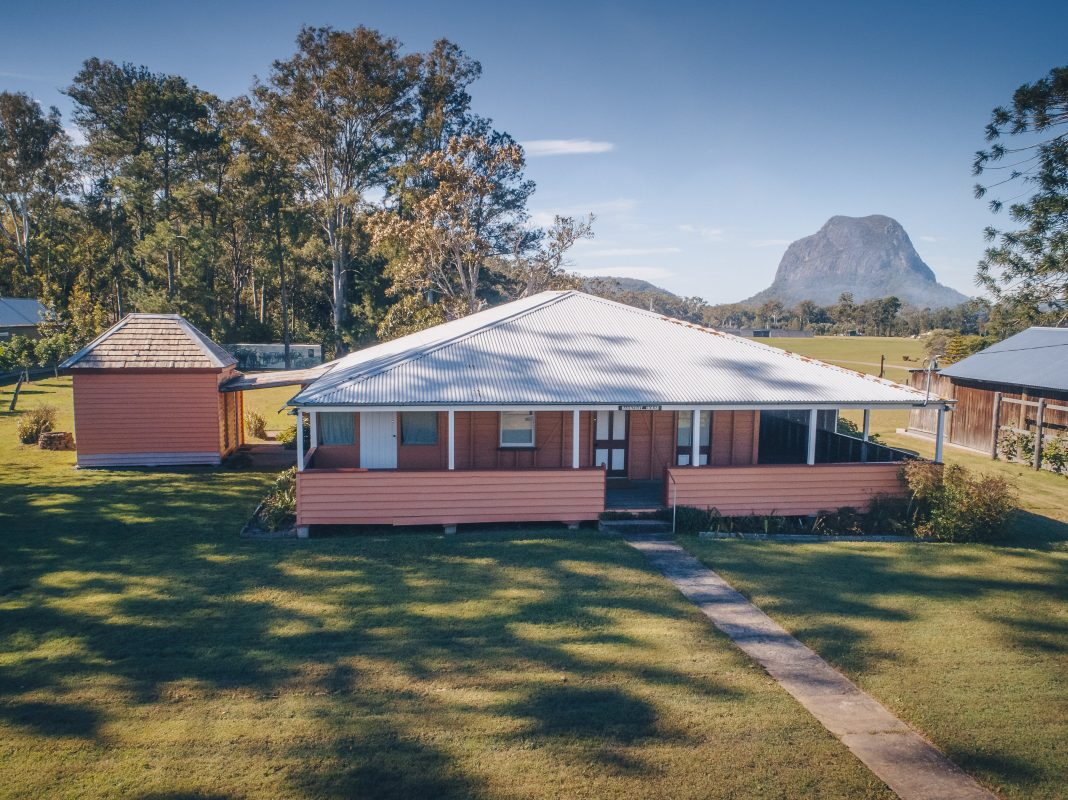 Nestled in the renowned Glass House Mountains, you can visit the state heritage listed Bankfoot House as part of Sunshine Coast Open House.
